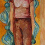 zelfportret acryl op papier