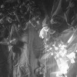 Hersenknoop stof, papier en knopen 130x140 2012